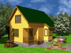 Дом из бруса 6х9 с верандой