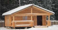 Строительство может производиться как из обычного, так и из зимнего леса