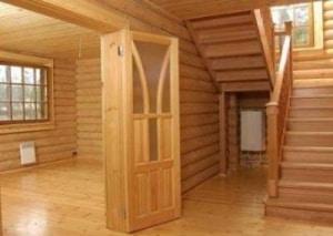 Отделка пола деревянного дома вагонкой