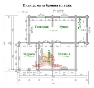 Планировка внутреннего пространства элитного дома из ОЦБ 8х10