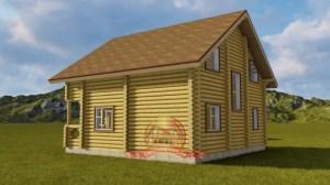 Проект бревенчатого дома из бревна, отличная планировка
