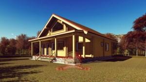 Проект дома из профилированного бруса 10х11, отличная планировка