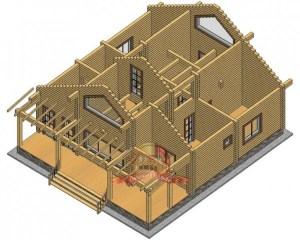 Просторный дом 10 на 11 из профилированного бруса