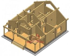 Планировка дома 10х11