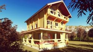 Пример эксклюзивного, трехэтажного дома