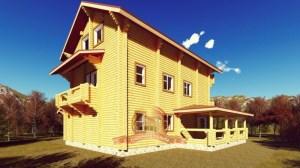 Трехэтажный сруб эксклюзивного дома