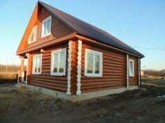 Типовой проект бревенчатого дома