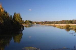 Тишь да гладь в одном из поселков вдоль Рогачевского шоссе. Идеальное место для загородного отдыха