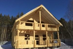 Усадка дома из зимнего леса происходит в более щадящем режиме