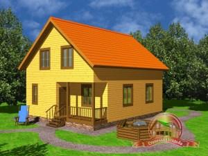 Дом из бруса 8х10 с котельной и санузлом