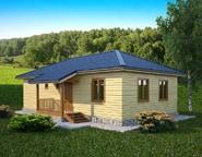 Проект просторного одноэтажного дома из бруса с котельной 7х13, НБ-05