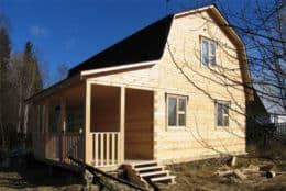 Дом из бруса с ломаной крышей в Бабынинском районе Калужской области