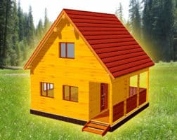 ТБС-11. Проект дома из бруса 6х6 с мансардой