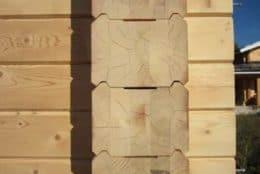 Хвастовичи, сруб дома из профилированного бруса