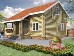 ДС-24. Проект дома из бревна 8.3 на 10.3 метров