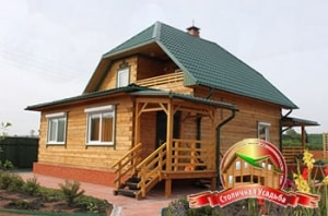 ДБ-13. Проект дома из бруса 7 на 8 метров