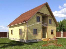 Дом из профилированного бруса 10х10, проект НБ-33