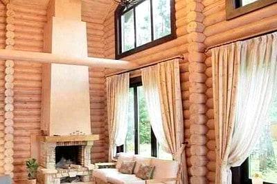 Дом из оцилиндрованного бревна, Нелидово