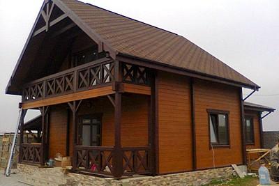 Дом из профилированного бруса, строительство в г. Конаково
