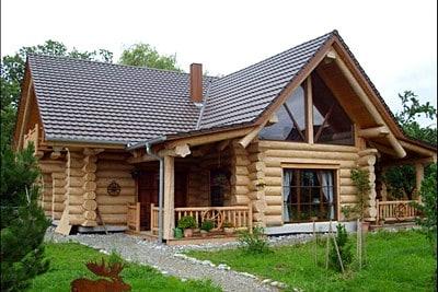 Стильный проект дома из бревна, строительство в Максатихе