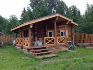 Баня с террасой под ключ в Московской области