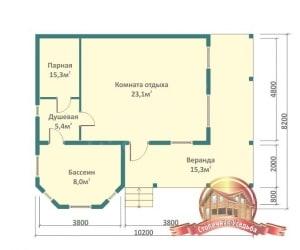 Планирование пространства для бани с бассейном