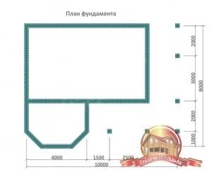 План фундамента для деревянной бани с бассейном