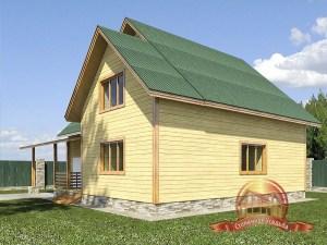 Дом из бруса 8х10 для вашего загородного участка