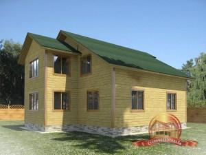 Проект большого дома с гаражом и удобствами