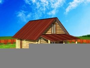 Проект дома из бревна 6 на 9 метров