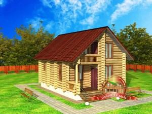 Проект дома из бревна 5 на 8 метров