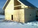 Пример дома из зимнего леса