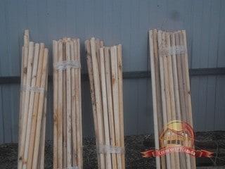 Деревянные нагеля для вертикальной жесткости дома
