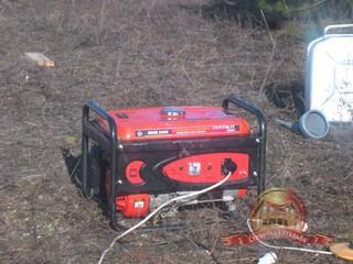 Если у вас на участке еще нет электричества - мы привезем генератор