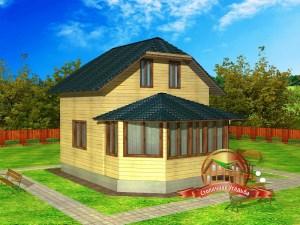 Проект дома 8 на 10