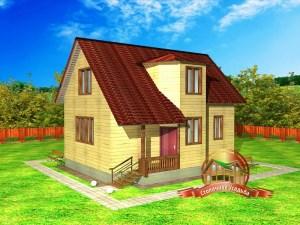 Брусовой дом 7х8 метров