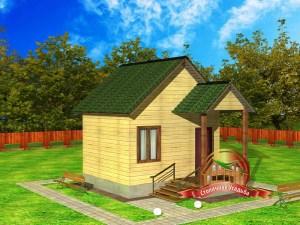 Небольшой проект дома из бруса 4 х 5 метров