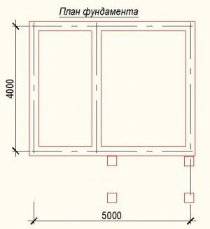 Планировка дома из бруса 4х5 - фундамент
