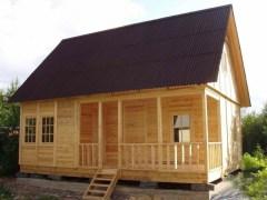 Деревянная банька в дальнейшем может дополнить ваш загородный комплекс