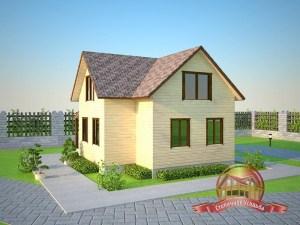 Уютный деревянный дом с двумя спальнями