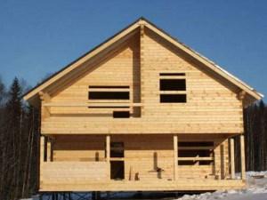 Дом для дачи из зимнего бруса