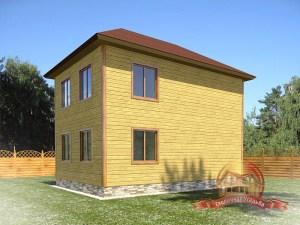Проект брусового дома с террасой 9Х9