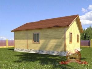 Проект одноэтажного брусового дома 8х9