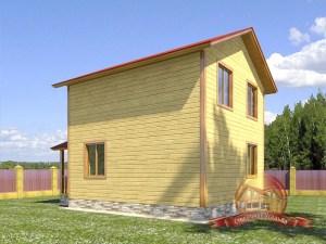 Проект деревянного дома в 2 этажа 6х9