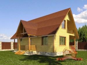 Дом из бруса 7х11 с кукушкой