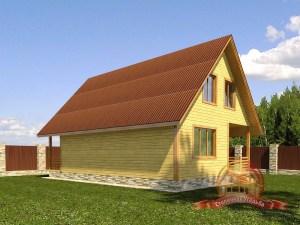 Элитный дом из профилированного бруса 7х11 со вторым светом