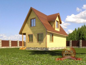 План-проект для деревянного дома 6 на 9