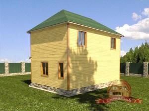 Оригинальный дом из бруса 7 на 9