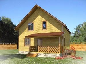 Дом из проф.бруса 8 на 10 для постоянного проживания