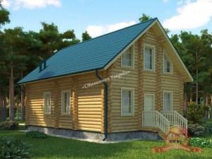 Просторный дом с балконом из ОЦБ 7.5 на 10